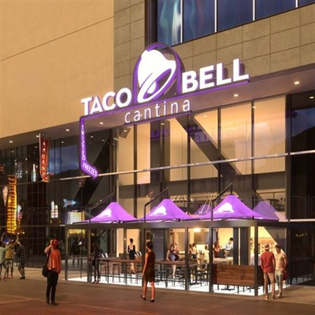 Join The Happy Hour At Taco Bell Cantina In Las Vegas Nv