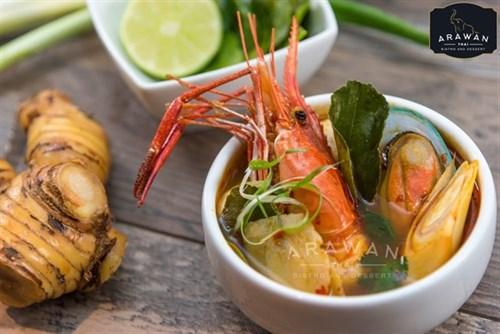 Join the happy hour at arawan thai bistro and dessert in for Arawan thai cuisine menu